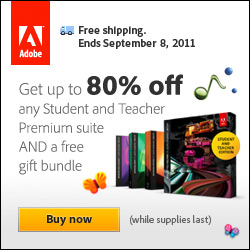 Save $50 off Adobe Student and Teacher Editions