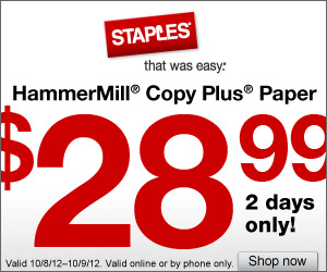 HammerMill Copy Plus Paper: $28.99/Case Shipped!