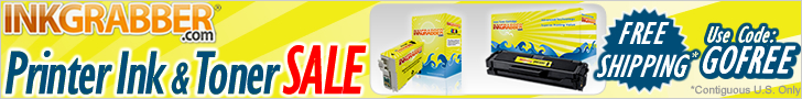Free Shipping on Ink & Toner Cartridges with code: GOFREE valid in the Contiguous U.S. Only