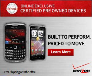 Certified Pre-Owned devices from Verizon Wireless