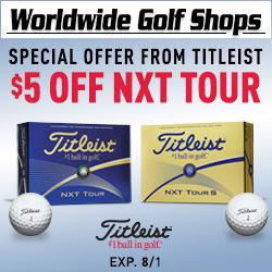 $5 off Titleist NXT Tour Golf Balls!