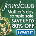 60-80% off on Mother's Day jewelry at JewelClub!
