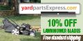 10% off Lawn Mower Blades