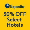 50% off selected hotels at Expedia