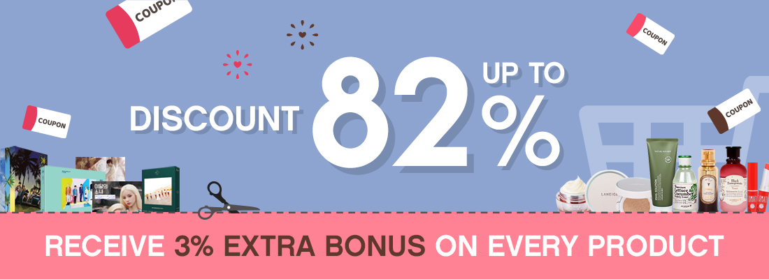 Discounts +  extra 3% Bonuses + free shipping