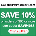 $10 off $85 orders at National Pet Pharmacy