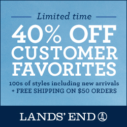 Lands' End 40% off Select
