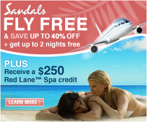 Fly Free to Sandals Resorts!