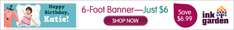 6 - Foot Banner - Just $6 - Save $18.99!