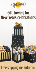 Gift Towers by California Delicious for New Years Celebrations