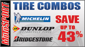 Save up to 43% on tire combos at Motosport