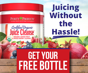 Certified Organic Super Fruit & Mixed Berry Cleanse from Purity Products. Juicing with no mess & no