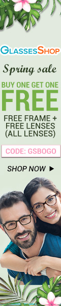 Spring Sale, BUY ONE GET ONE FREE, Free frames+ free lenses with code GSBOGO Offer expires 4/10
