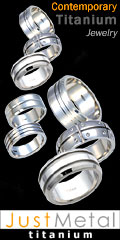 Titanium Rings by JustMetal