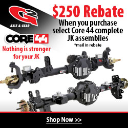 Buy a select G/2 Core 44 complete Jeep assembly and receive up o $250 back.