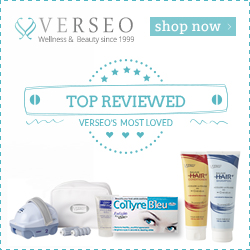 Verseo.com Top Reviewed Products including HairPlus, GrayBan and Collyre Bleu