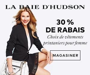 (3/4-3/31) 30 % de rabais Choix de vêtements printaniers pour femme à labaie.com
