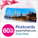 Save up to 60% off postcards at PsPrint!