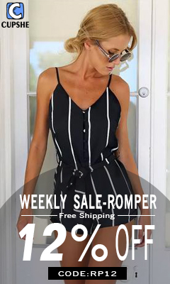 Weekly Sale--Romper!12% Off Code:RP12! Free Shipping!
