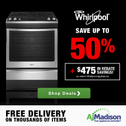 Save up to 50% Whirlpool