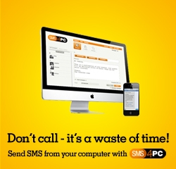 Send SMS from your computer with SMS4PC
