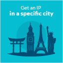 Get and IP in a Specific City