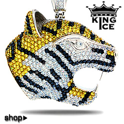 Black And Yellow Hip Hop Jewelry