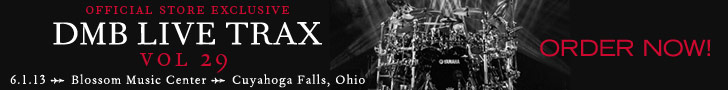 DMB is excited to announce their June 1, 2013 Blossom Music Center in Cuyahoga Falls, Ohio, as the 2