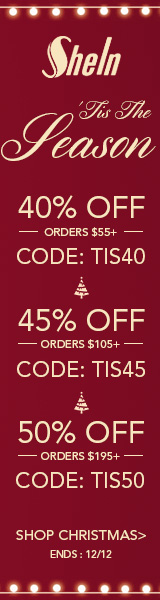 Enjoy 50% off orders $195+ with Coupon Code TIS50 at us.SheIn.com! Ends 12/12 (US Only)