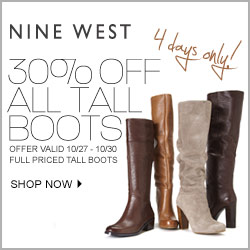 thru 10/17 - Nine West Friends & Family – 30% Off