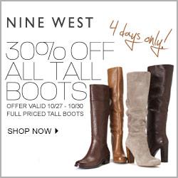 thru 10/30 - 4-day 30% Off Boots Sale