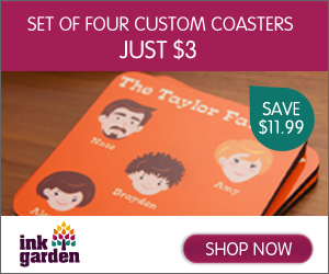 Set Of 4 Custom Coasters - Just $3!