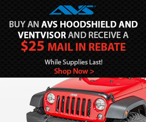 $25 rebate with AVS Ventvisor + Hoodshield combo purchase