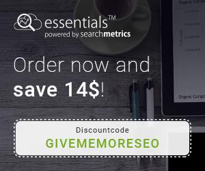 Searchmetrics Essentials Coupon