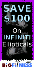 Save $100 on Infiniti Ellipticals