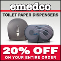 20% Off Toilet Paper Dispensers