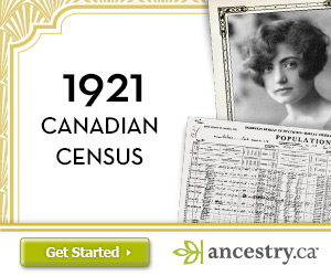 1921 Canadian census release at Ancestry.com is announced.