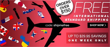 Free Shipping ON INTERNATIONAL ORDERS