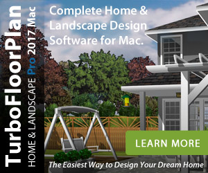 TurboFloorPlan 3D Deluxe Mac - offers simple design and automated features for home and landscape design.
