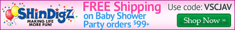 Save 15% on Baby Shower Supplies at Shindigz.
