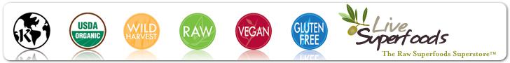 Raw Organic Kosher Gluten-Free Vegan Superfoods