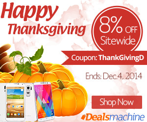 Happy Thanksgiving! 8% OFF Sitewide at Dealsmachine with Coupon