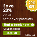 Save 20% on all soft cover products!