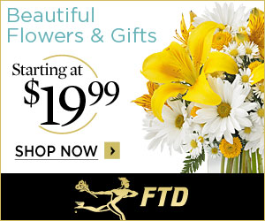 Beautiful Flowers & Gifts starting at $19.99 300 x 250