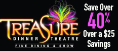 Treasure Tavern Dinner Show - Save 40%!