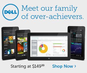 New Tablets from Dell! Starting at $149.99