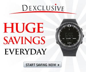 Get huge savings everyday at Dexclusive