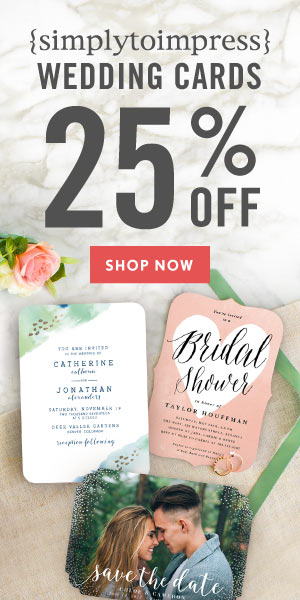 Save 25% on Wedding Cards!