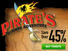 Pirates Dinner Adventure - Save Over 45% on Tickets!