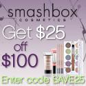 smashbox $25 off $100 purchase